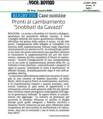 2016-12-12_Voce Di Rovigo_Nomine Consiglio Federale