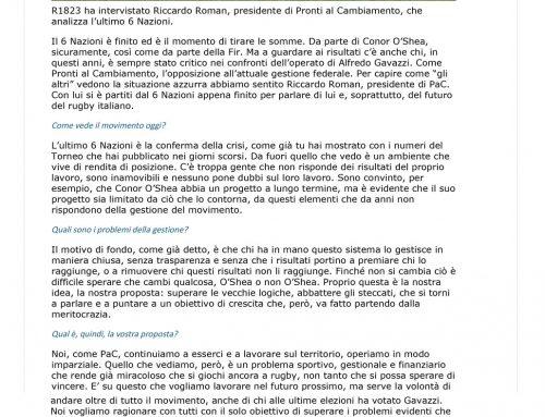 Intervista a Riccardo Roman