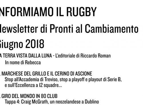 Informiamo il Rugby – Giugno 2018