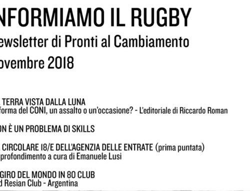 Informiamo il Rugby – Novembre 2018