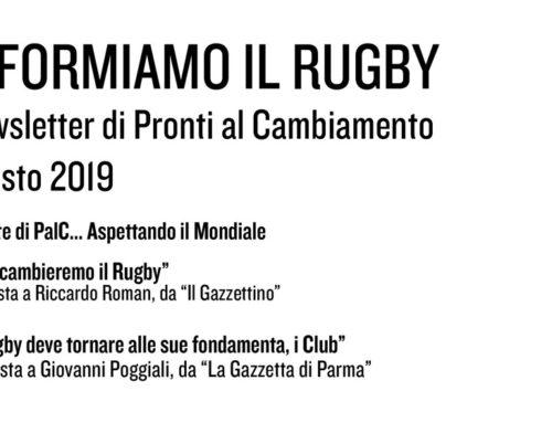 Informiamo il Rugby – Agosto 2019