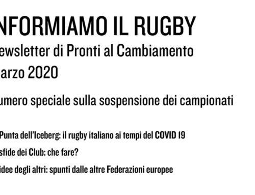 Informiamo il Rugby – Marzo 2020